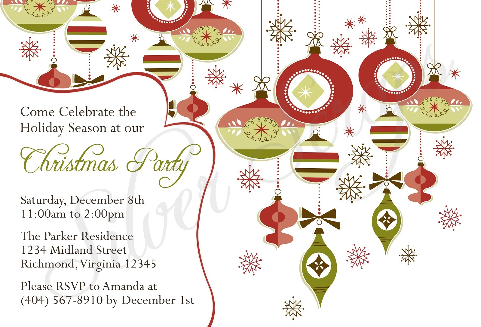 Printable Religious Invitations - Free Printable Religious Christmas Invitations