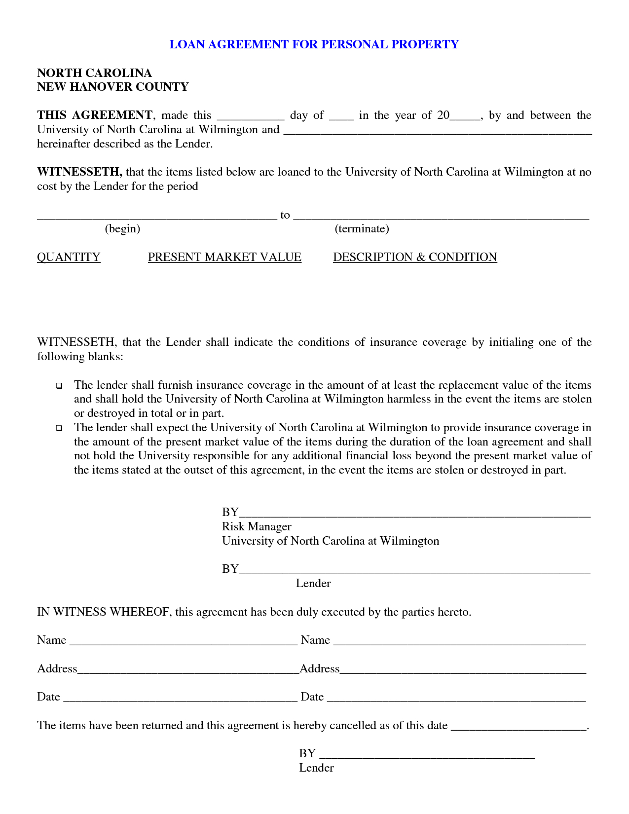Printable Sample Personal Loan Contract Form   Laywers Template - Free Printable Promissory Note Contract