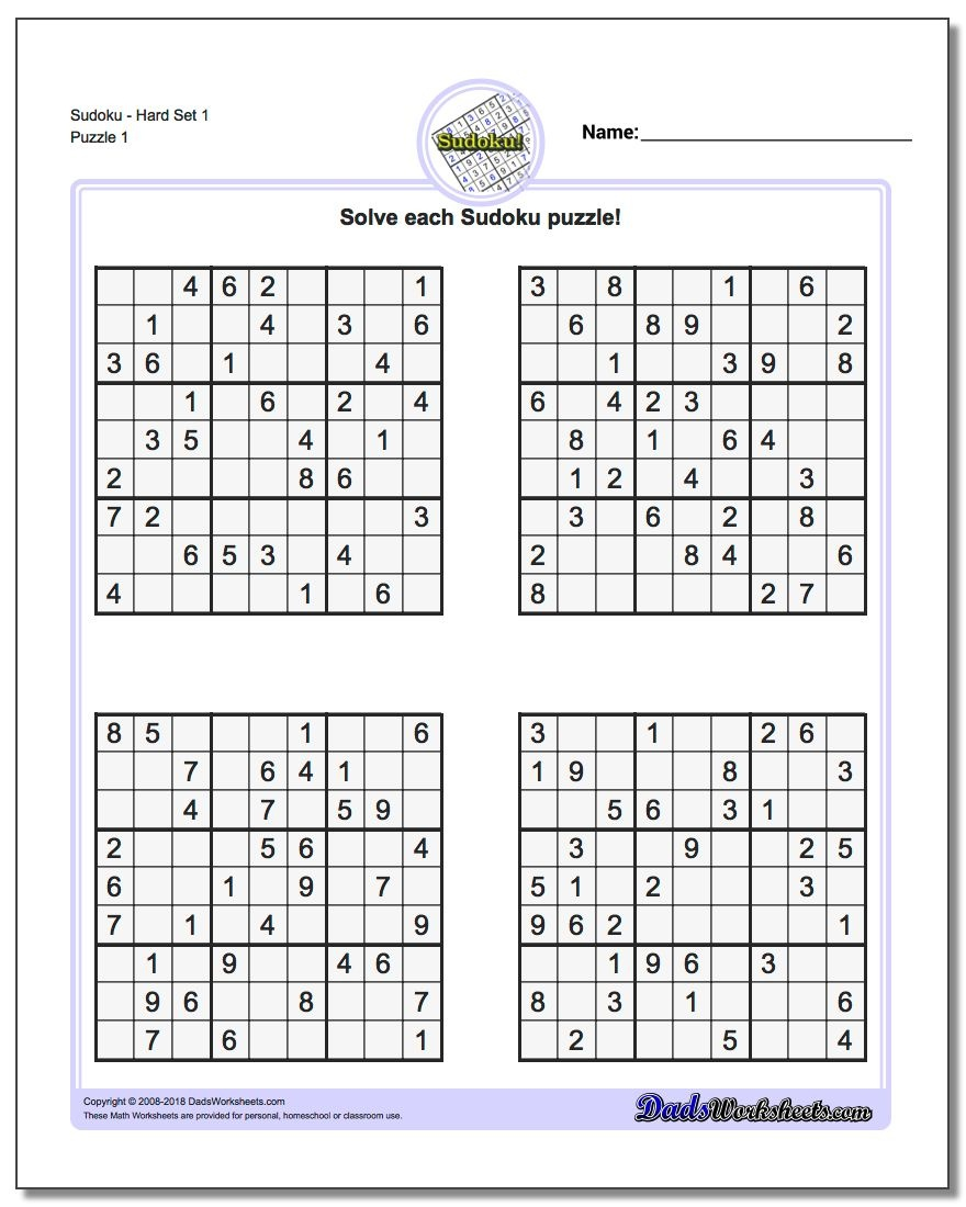 Printable Sudoku Puzzles   Room Surf - Free Printable Sudoku With Answers