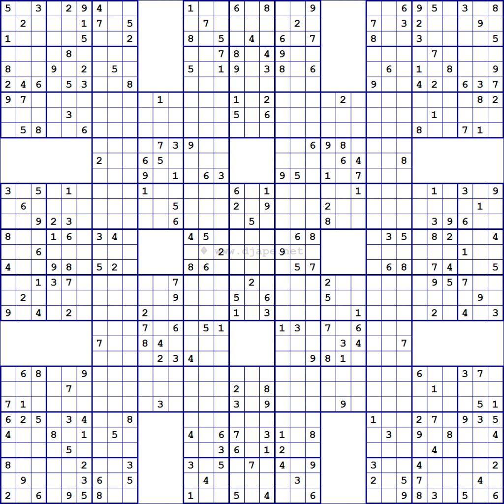 Printable Super Challenger Sudoku Puzzles   Printable Sudoku Free - Free Printable Super Challenger Sudoku
