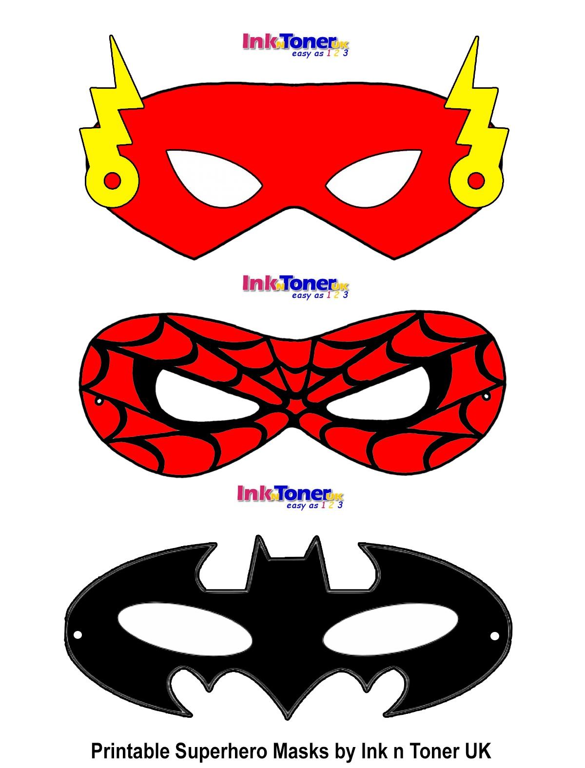 Printable Superhero Masks For Super Hero Day   Inkntoneruk Blog - Free Printable Superhero Masks