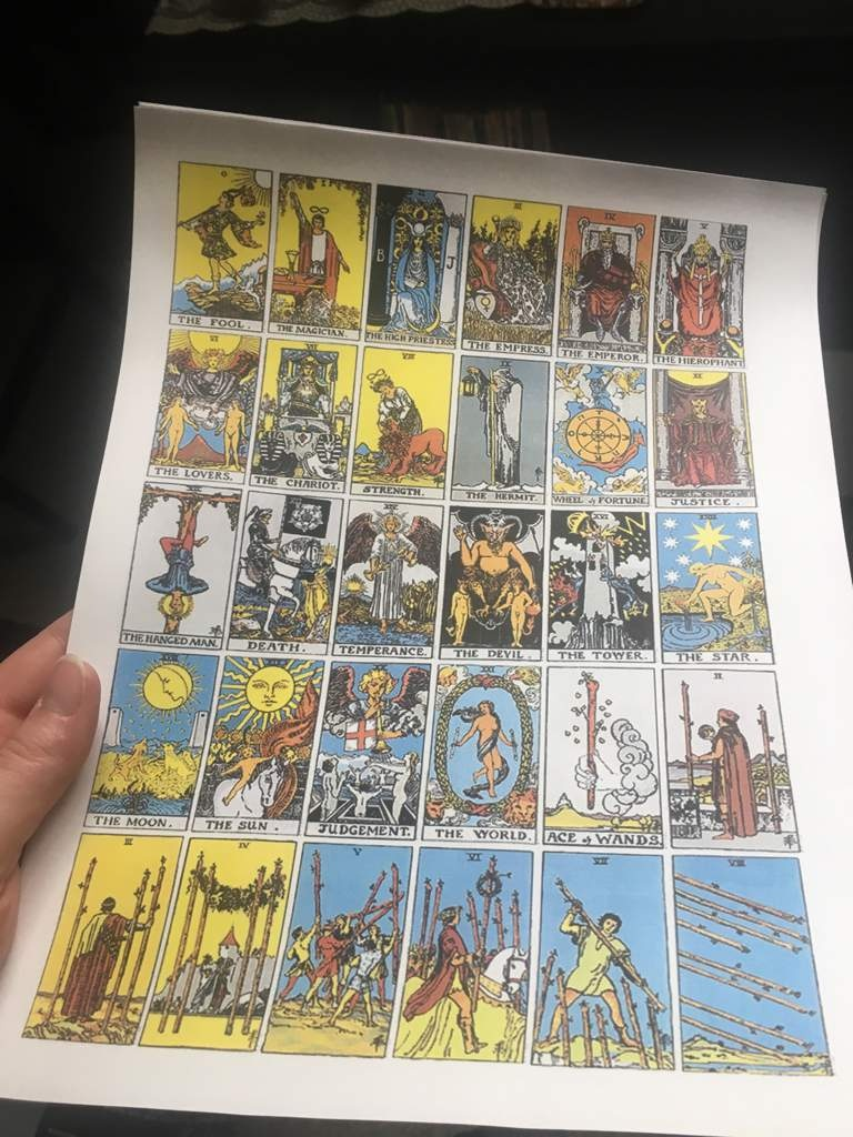Printable Tarot Deck ~ | The Witches' Circle Amino - Free Printable Tarot Cards