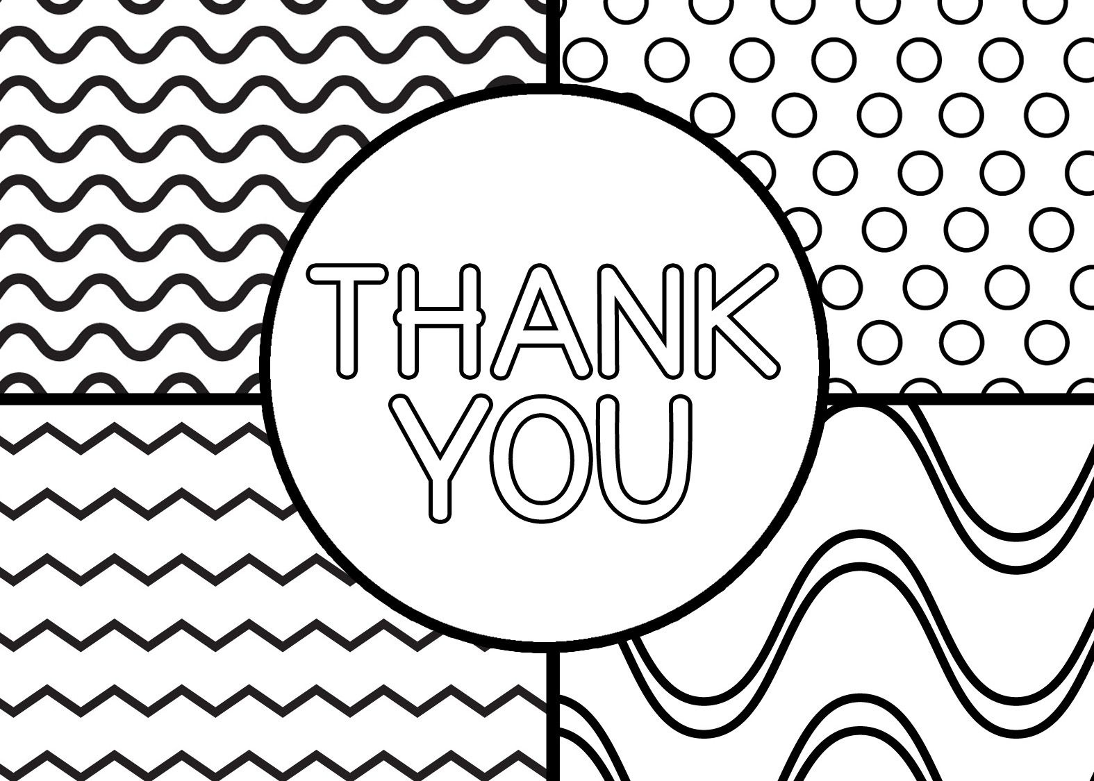 Printable Thank You Cards For Kids   Classroom Thank You Cards - Free Printable Thank You Cards Black And White