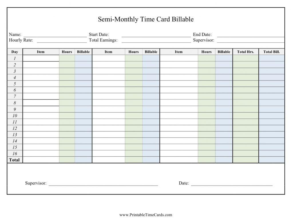 Printable Time Cards | Free Printables - Free Printable Time Cards