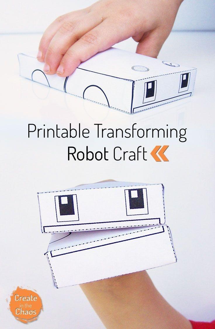 Printable Transforming Robot Craft   Printables   Crafts For Kids - Free Printable Craft Activities
