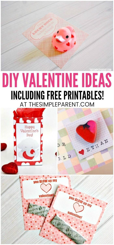 Printable Valentines & Diy Valentine Ideas For Kids | Easy - Free Printable School Valentines Cards