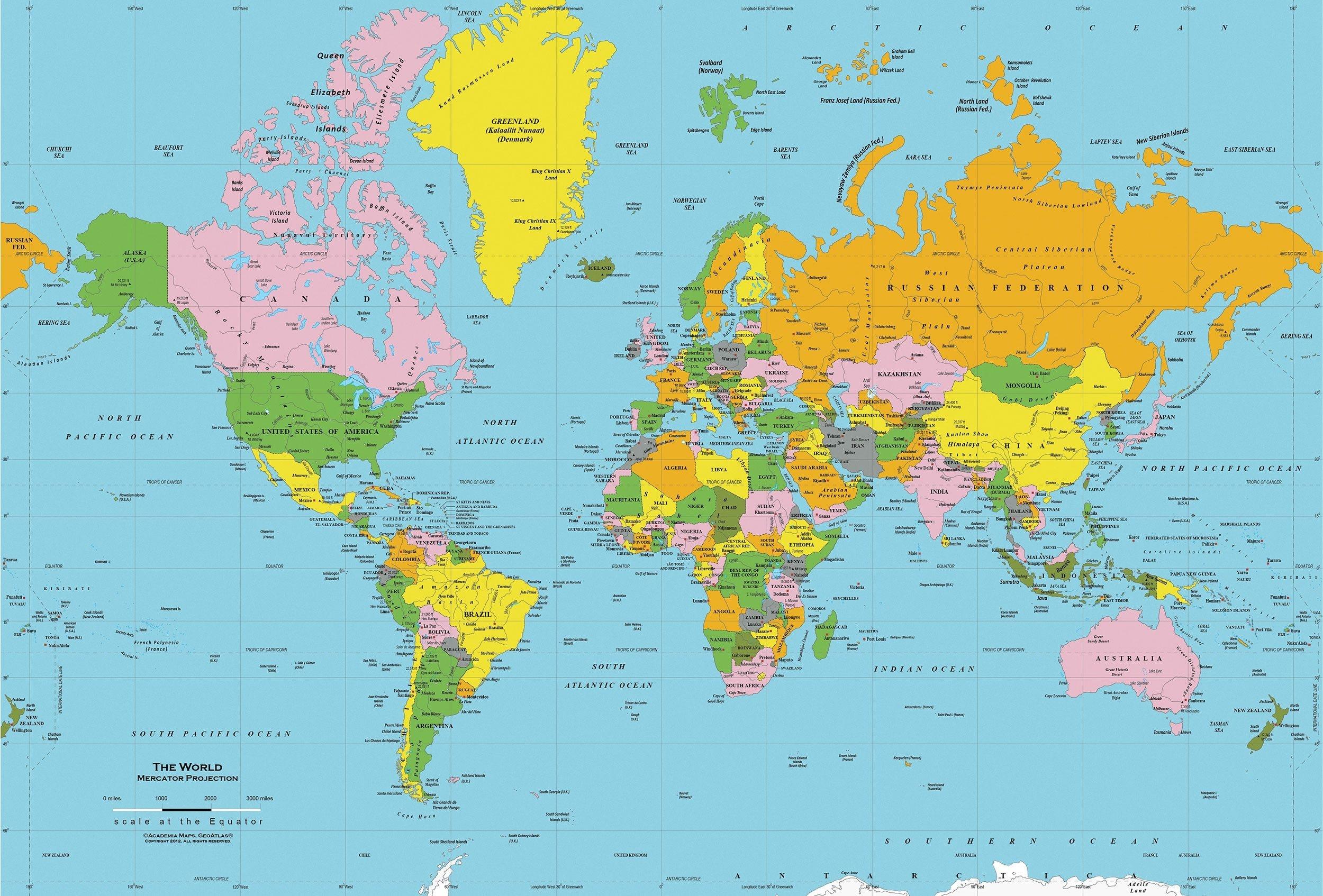 Printable World Map Free   Sitedesignco - Free Printable World Map Images