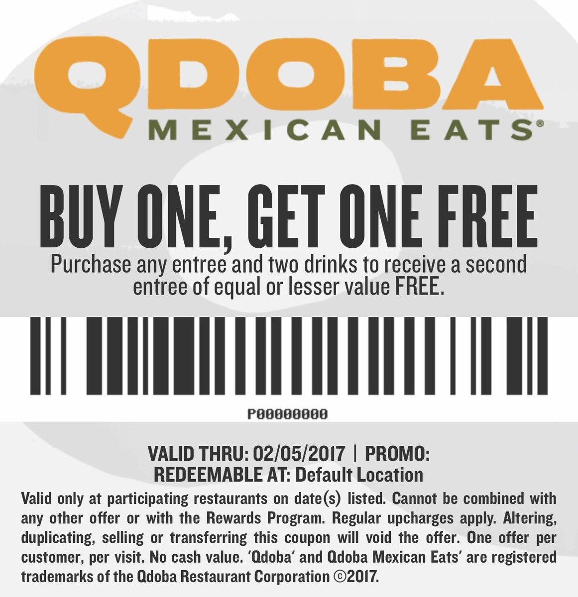 Qdoba Online Coupons | Printable Coupons Online - Bogo Free Coupons Printable