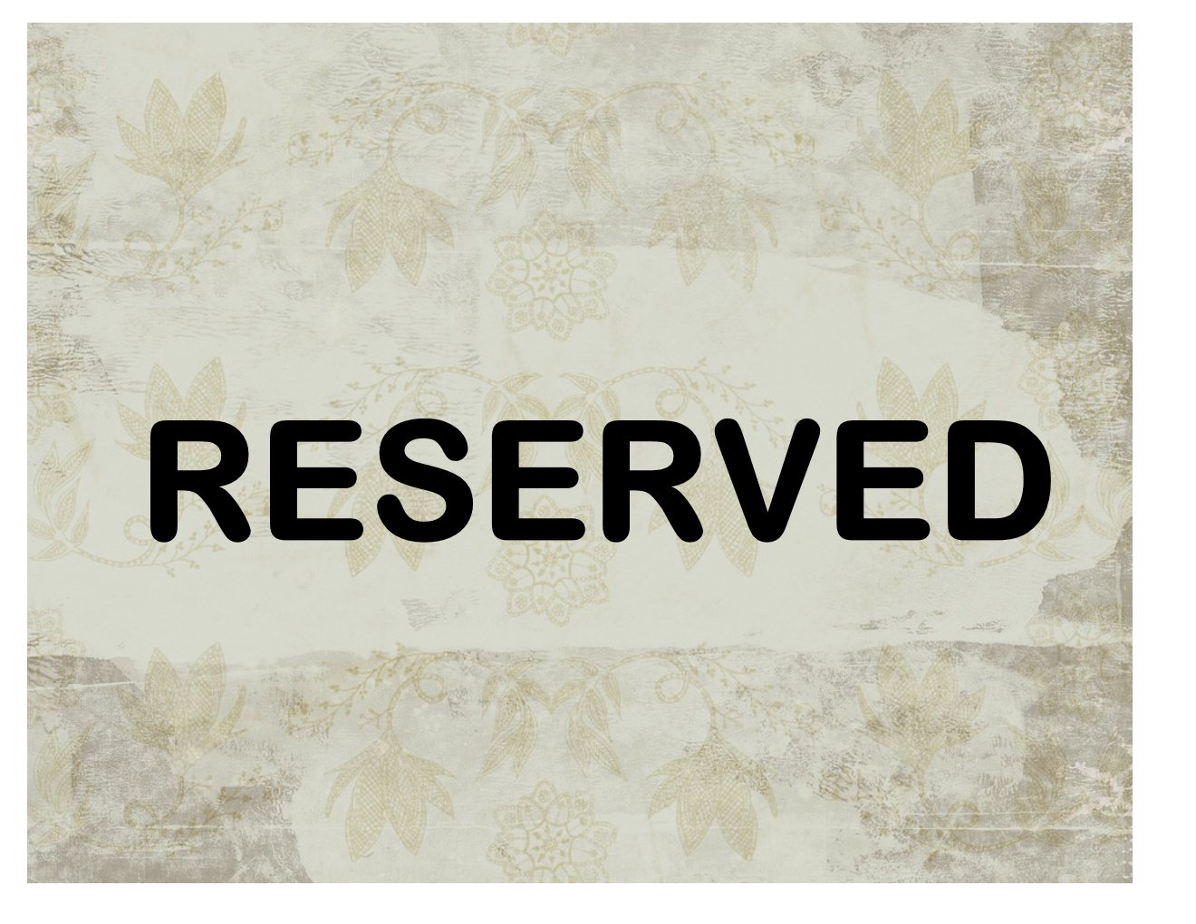 Reserved Sign - Free Printable Reserved Table Signs