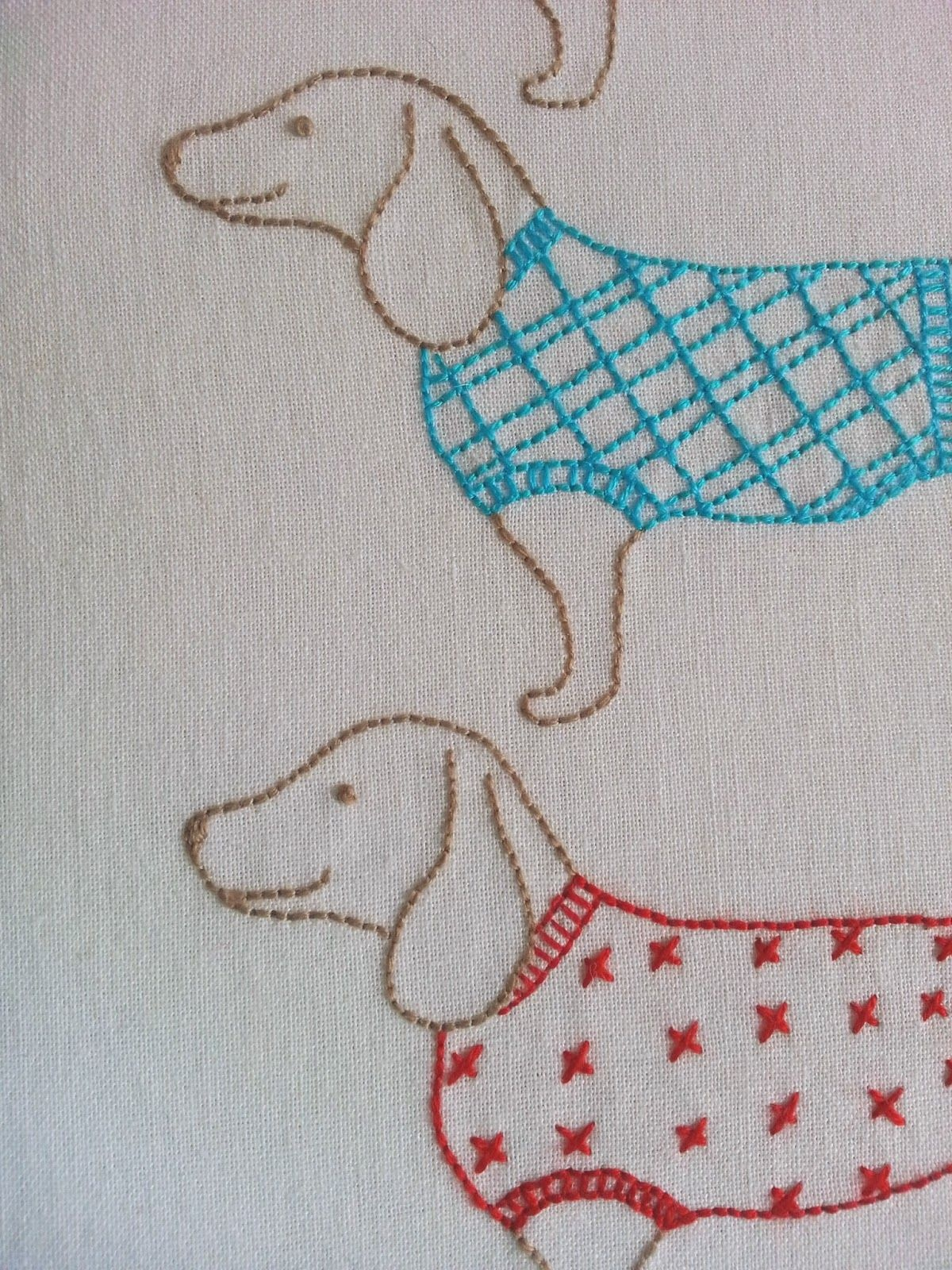 Ric-Rac: Moving On - Free Sausage Dog Embroidery Pattern   Crafts - Free Printable Dachshund Sewing Pattern