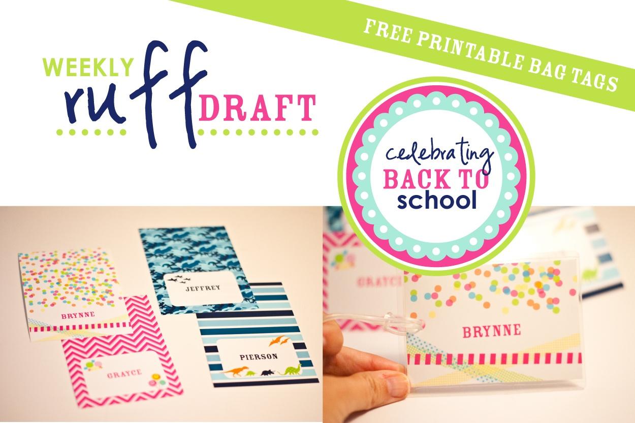 Ruff Draft: Free Printable School Bag Tags - Anders Ruff Custom - Free Printable Goodie Bag Tags