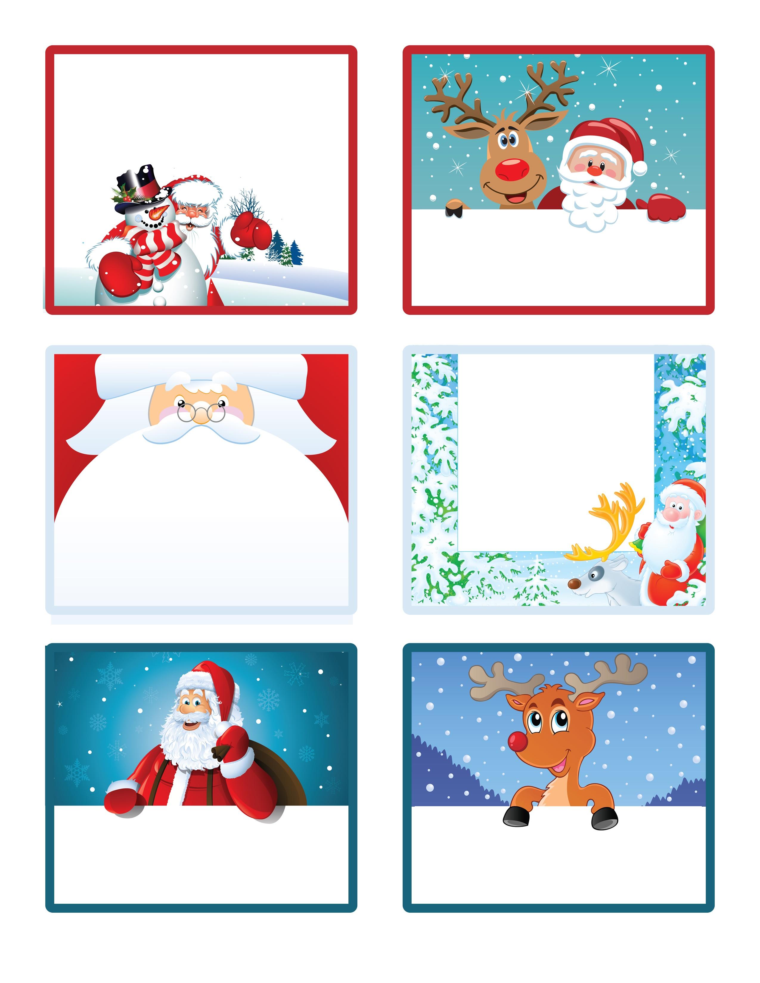 Santa's Little Gift To You! Free Printable Gift Tags And Labels - Free Printable Santa Gift Tags