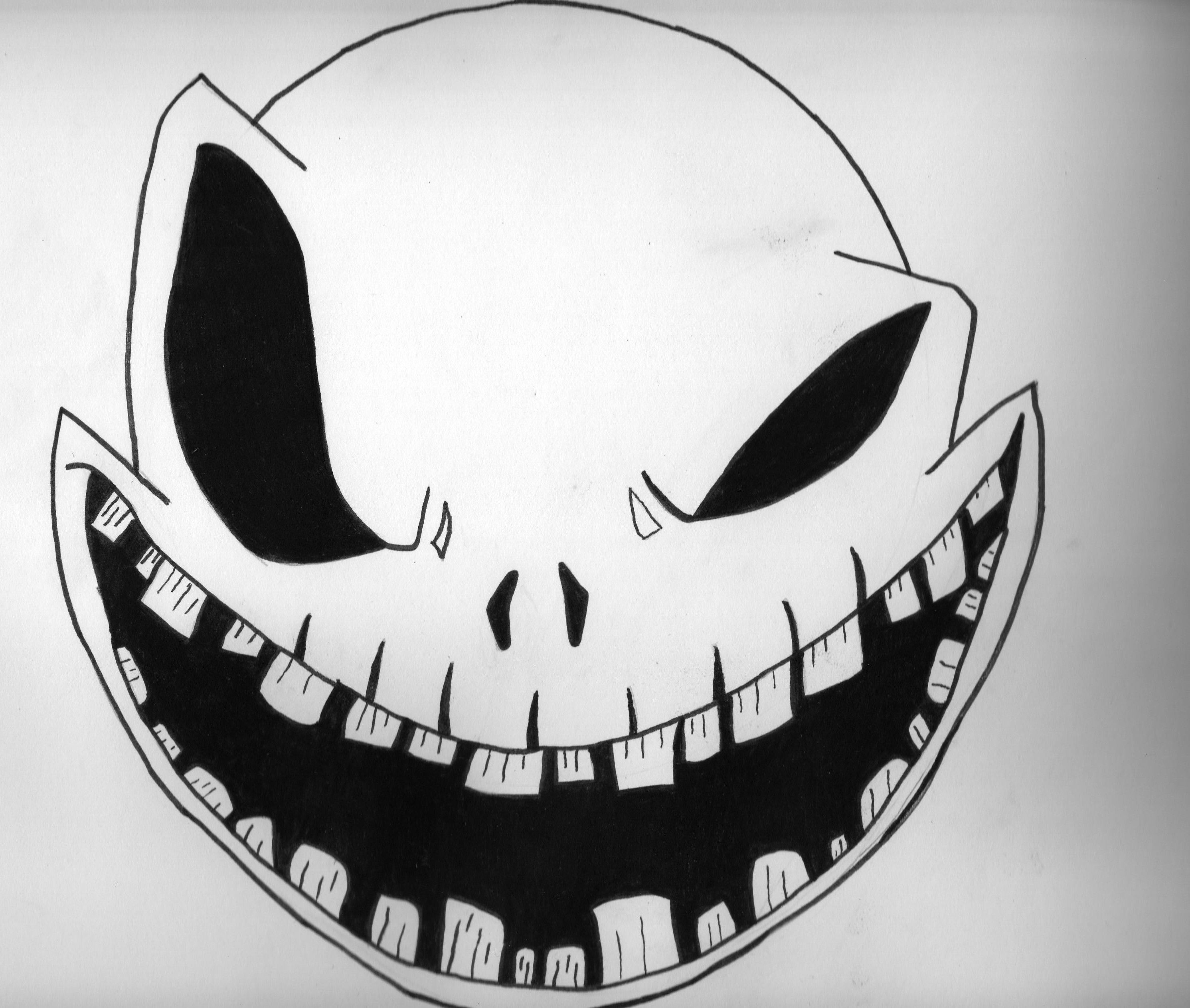Scary Pumpkin Patterns Free Printable   Monster Face Pumpkin Stencil - Scary Pumpkin Patterns Free Printable