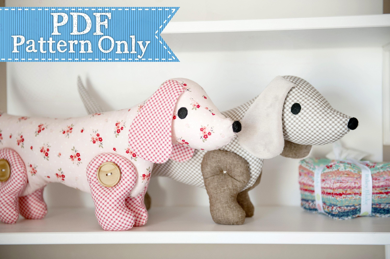 Sew-A-Long-Little-Doggy Dachshund Pdf Pattern Sewing Pdf   Etsy - Free Printable Dachshund Sewing Pattern