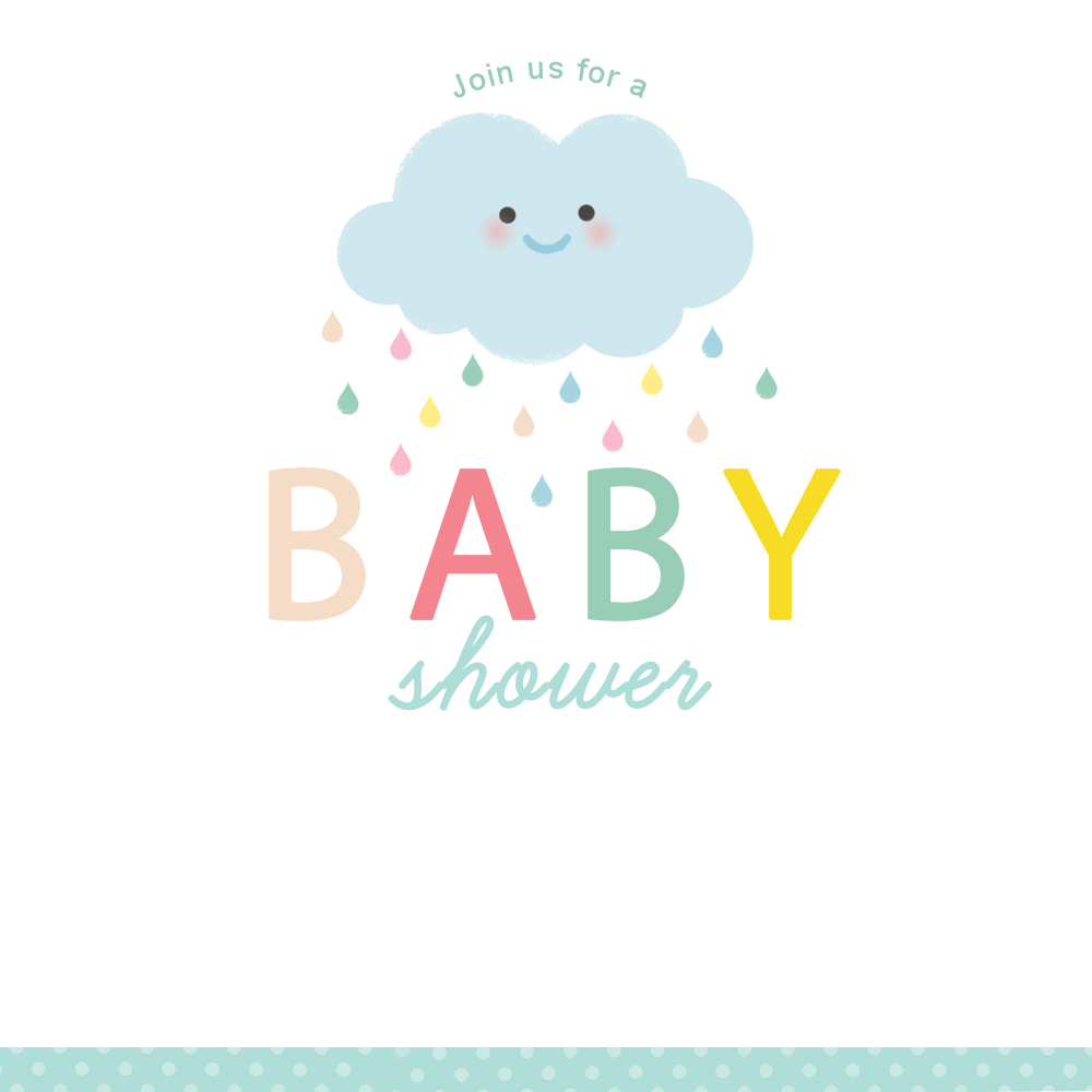 Shower Cloud - Free Printable Baby Shower Invitation Template - Free Printable Baby Shower Invitations