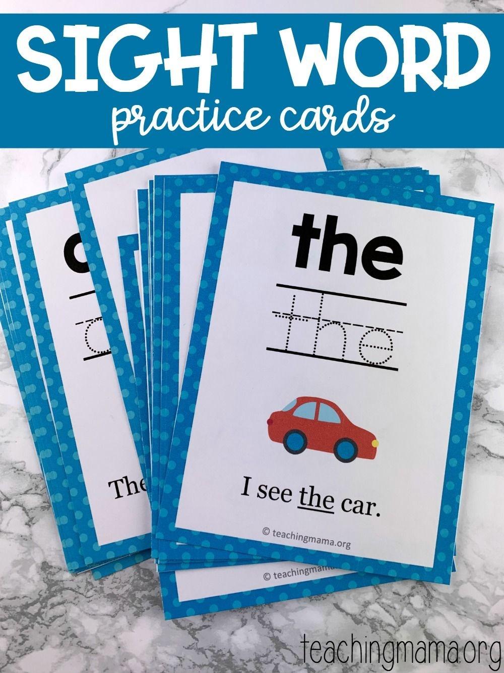 Sight Word Practice Cards   Snap Words   Educação - Free Printable Snapwords