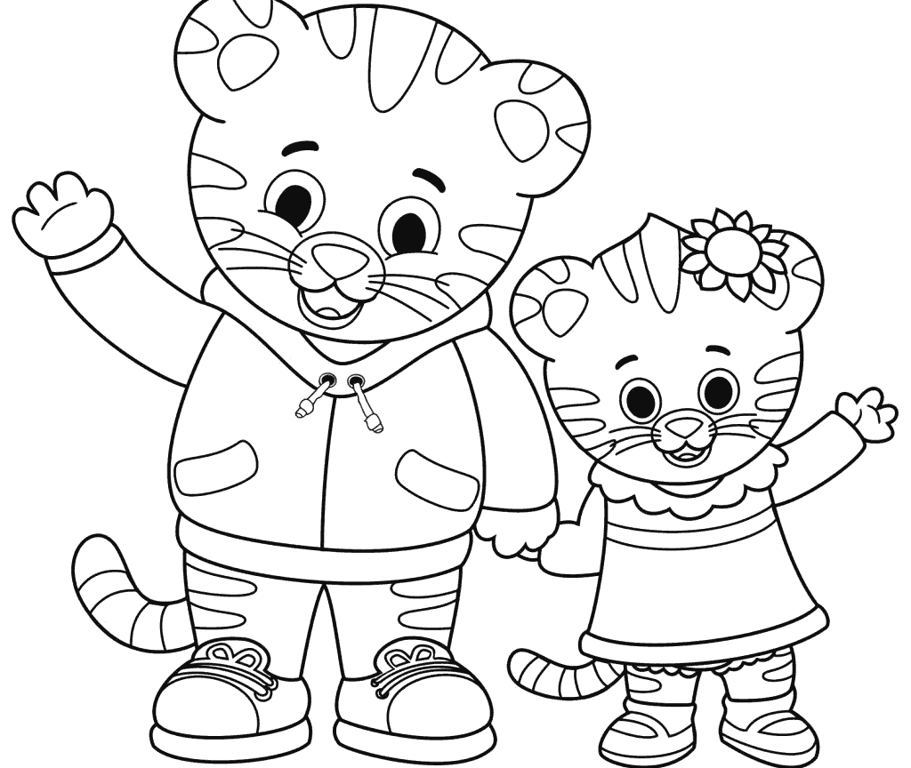Simple Christmas Daniel Tiger Coloring Pages 7 | Jacquelyn's - Free Printable Daniel Tiger Coloring Pages