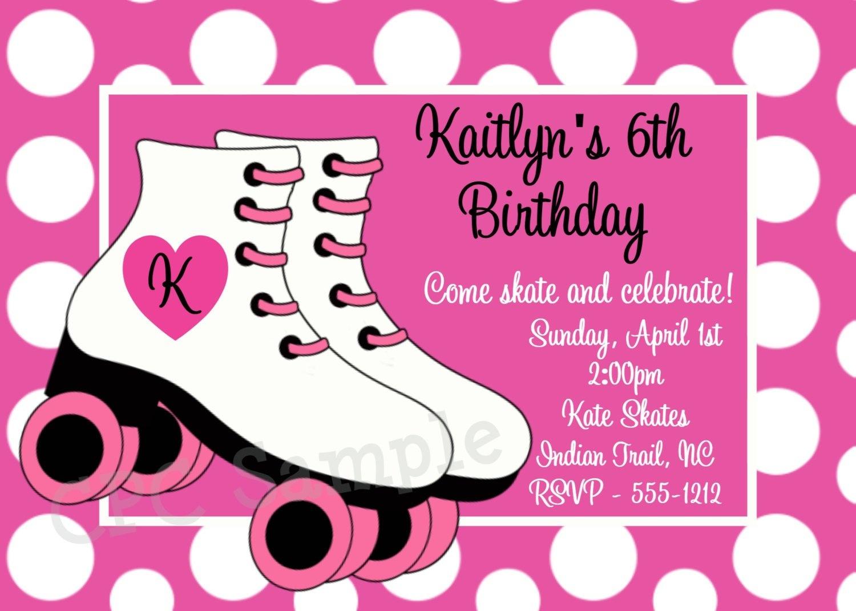 Skate Party Invitation Template. Party Invitations Free Printable - Free Printable Skateboard Birthday Party Invitations