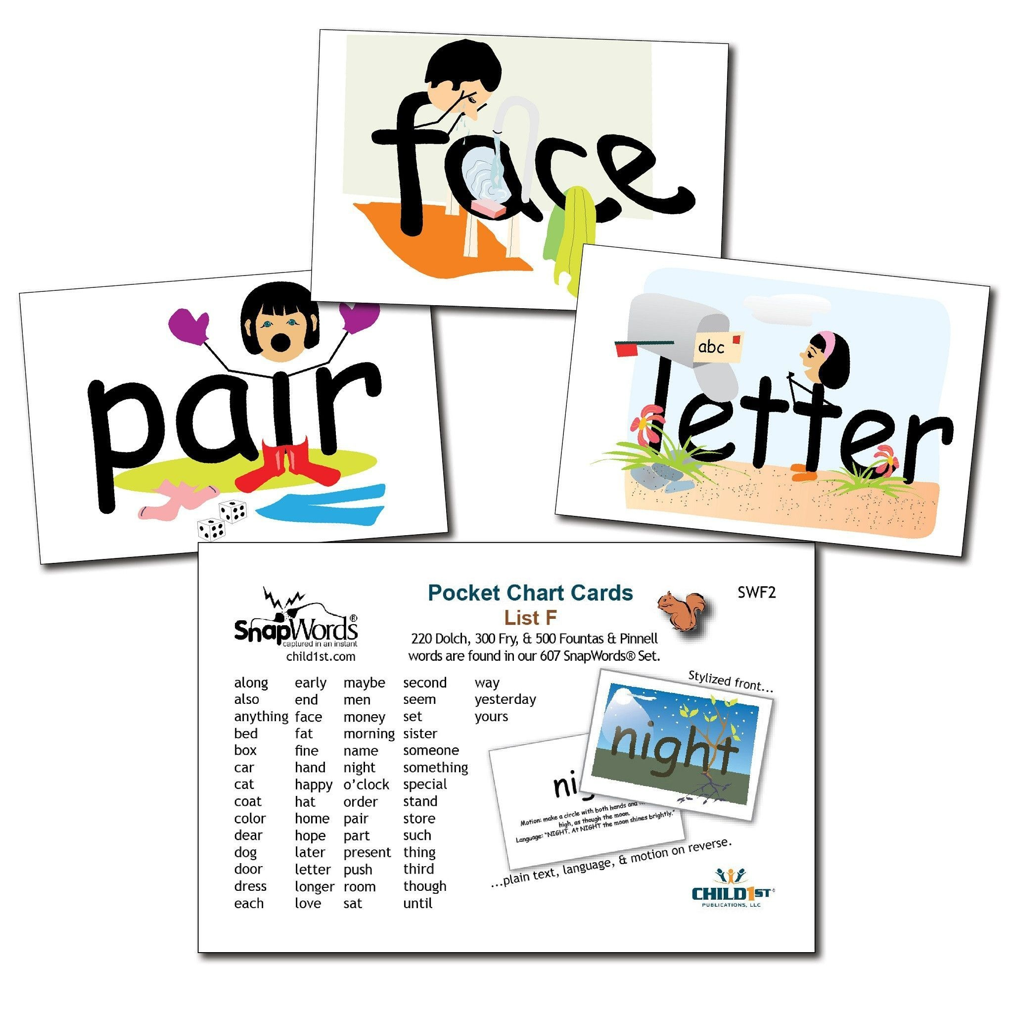 Snapwords® List F Pocket Chart Cards   Kids Learning Resources - Free Printable Snapwords