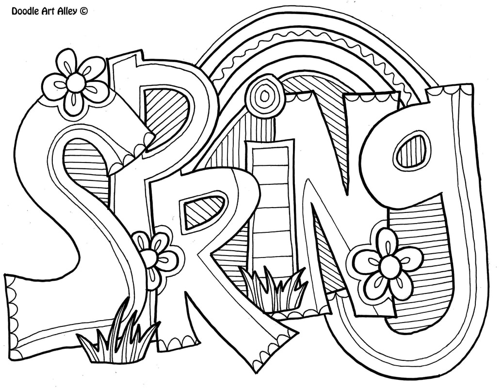 Spring Coloring Pages - Doodle Art Alley - Free Printable Spring Coloring Pages For Adults