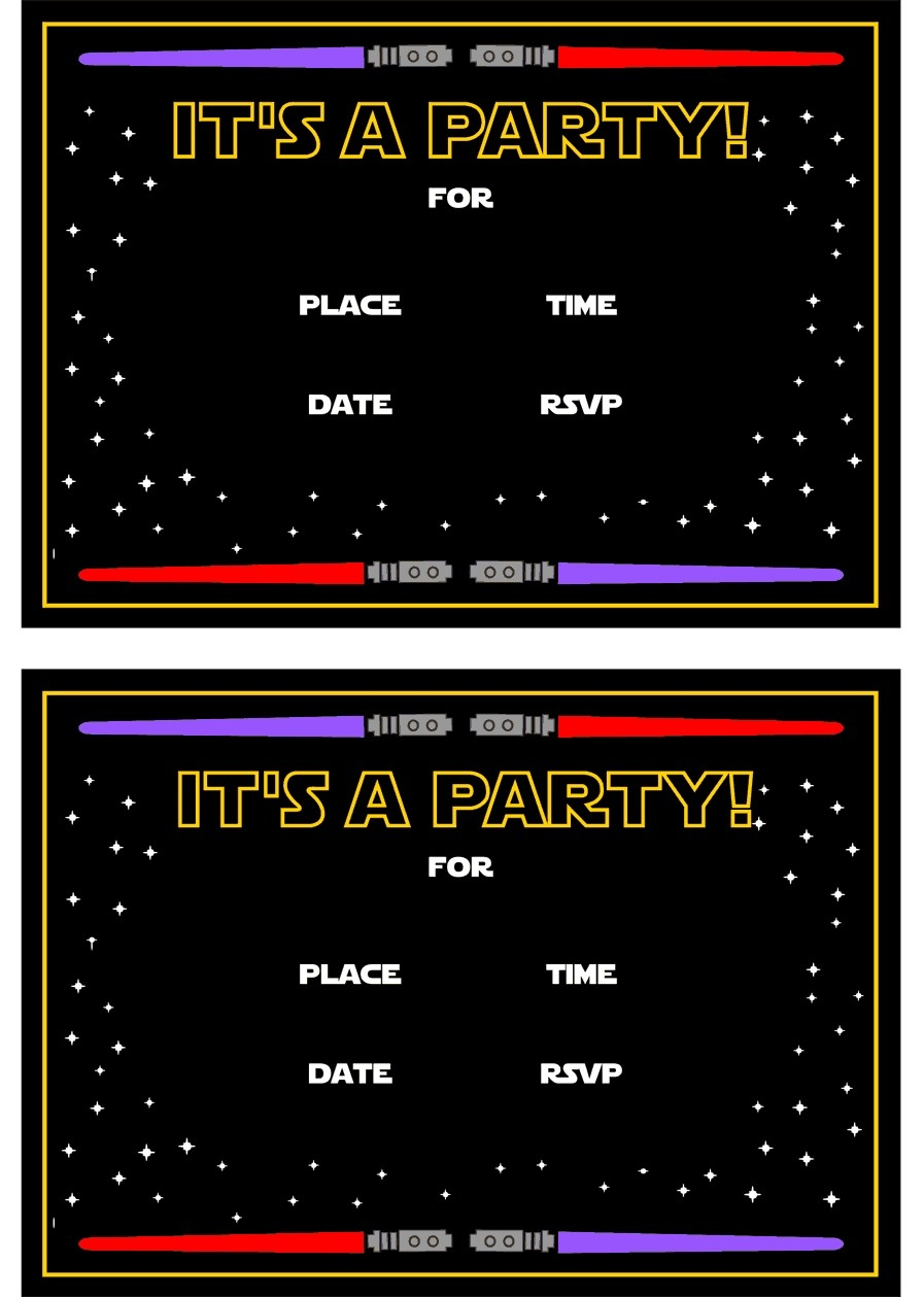 Star Wars Free Printables   Catch My Party - Star Wars Invitations Free Printable