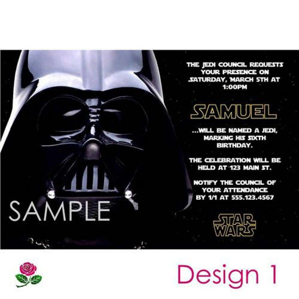 Star Wars Party Invitations Free Printable 5   Enrique   Star Wars - Star Wars Invitations Free Printable