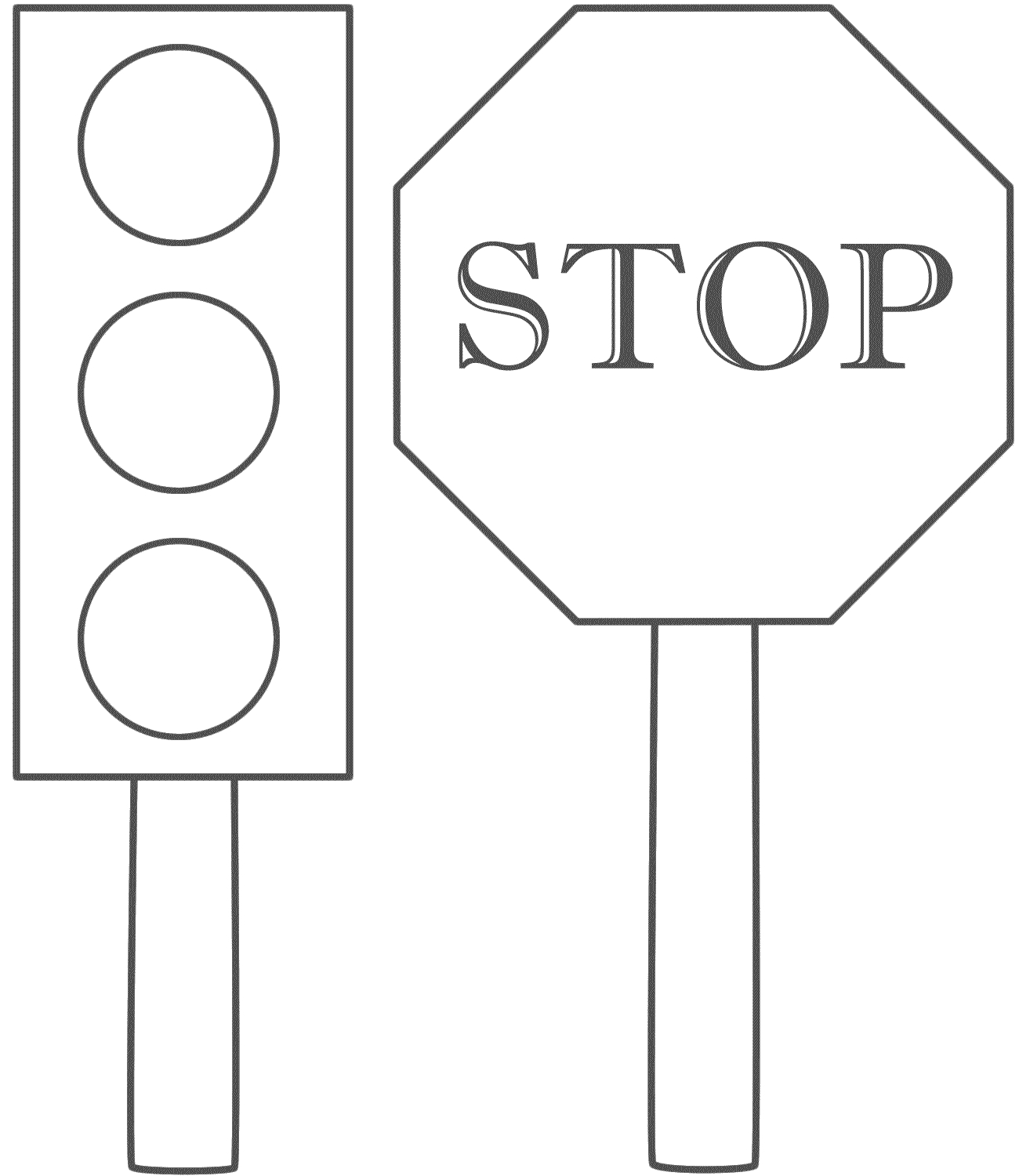 Stoplightcoloringpage Traffic Light And Stop Sign Coloring Pages - Free Printable Stop Sign To Color