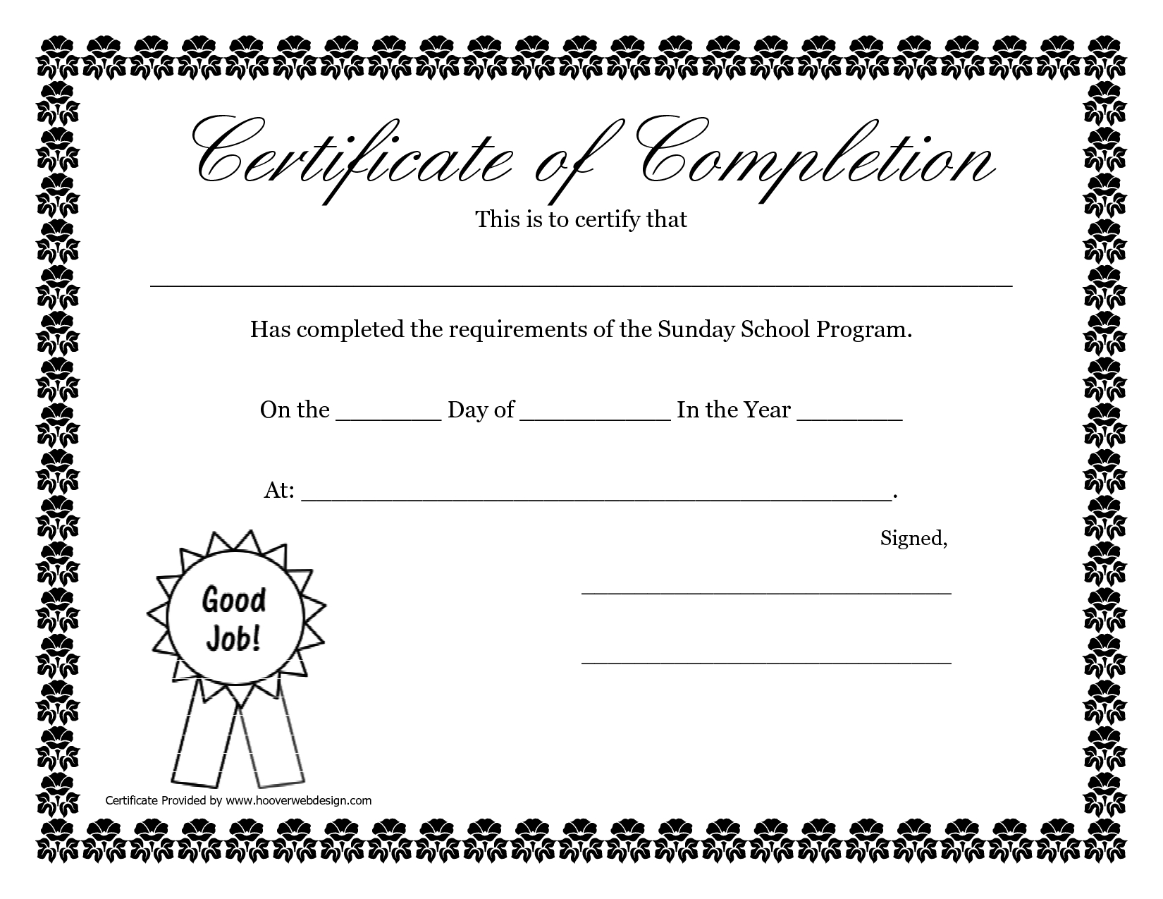 Sunday School Promotion Day Certificates | Sunday School Certificate - Free Printable School Certificates Templates