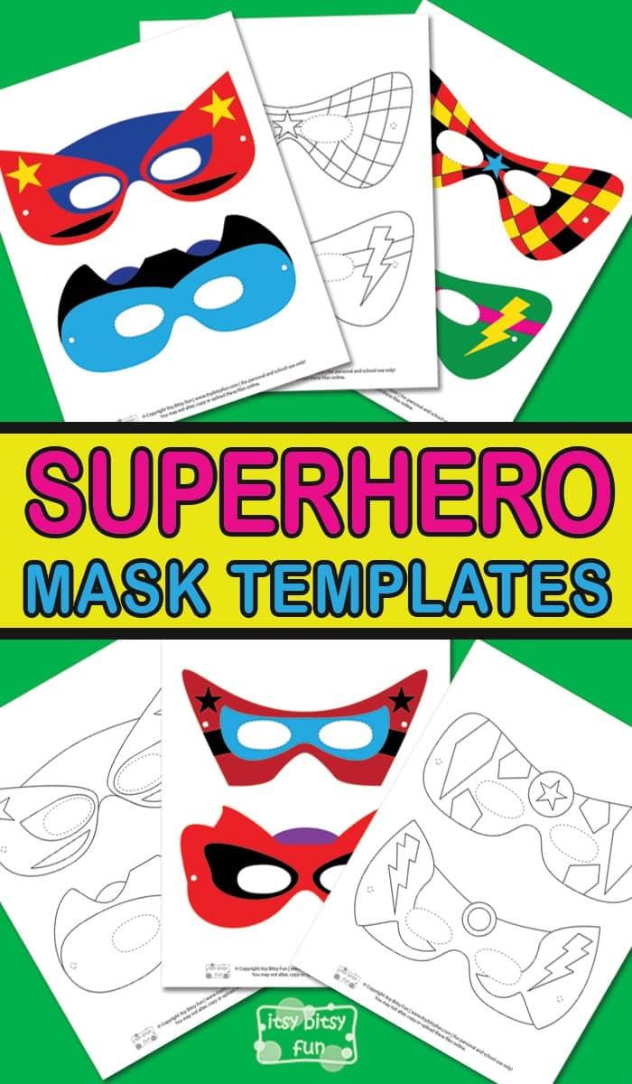 Superhero Mask Template - Itsy Bitsy Fun - Free Printable Superhero Masks