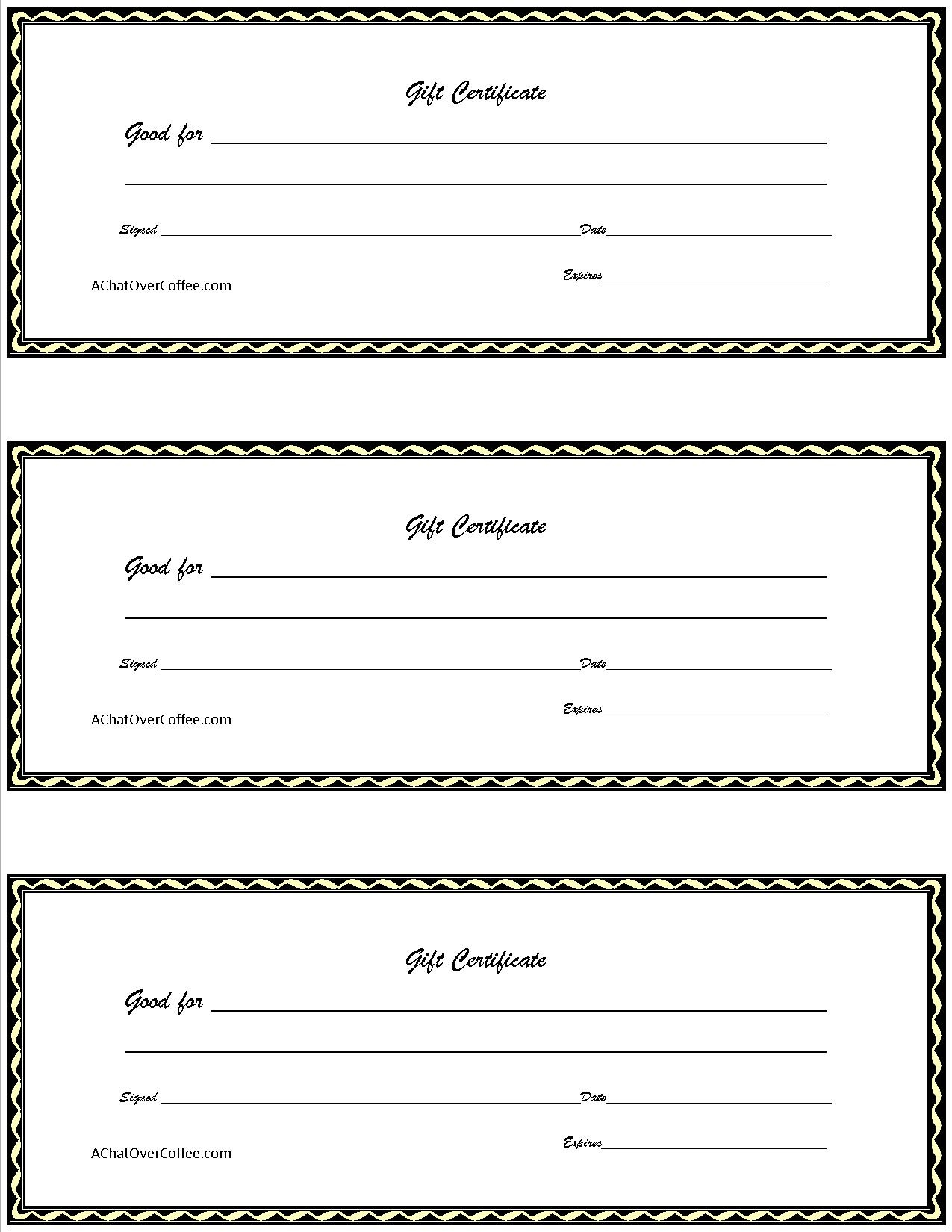 Surprising Free Printable Gift Certificates Template Ideas Christmas - Free Printable Gift Coupons