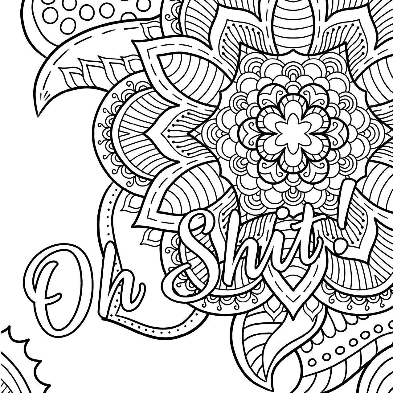Swear Word Coloring Book #2 Free Printable Coloring Pages For Adults - Free Printable Coloring Pages For Adults Swear Words