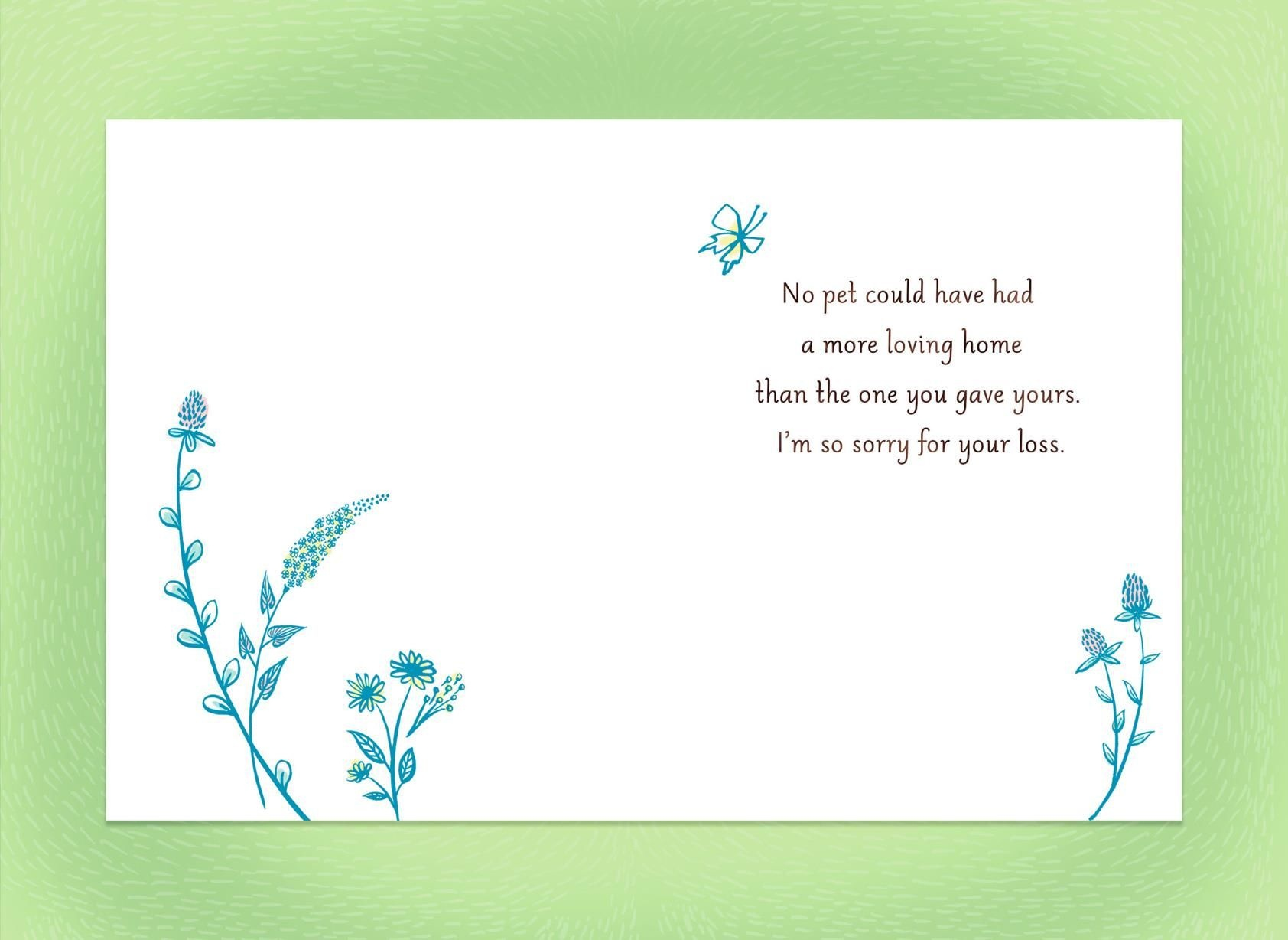 Sympathy Card For Pet Loss - Demir.iso-Consulting.co - Free Printable Sympathy Cards For Loss Of Dog