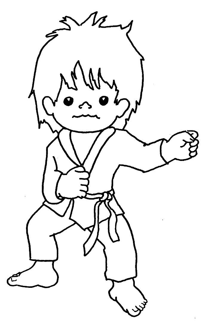Free Printable Karate Coloring Pages | Free Printable A to Z