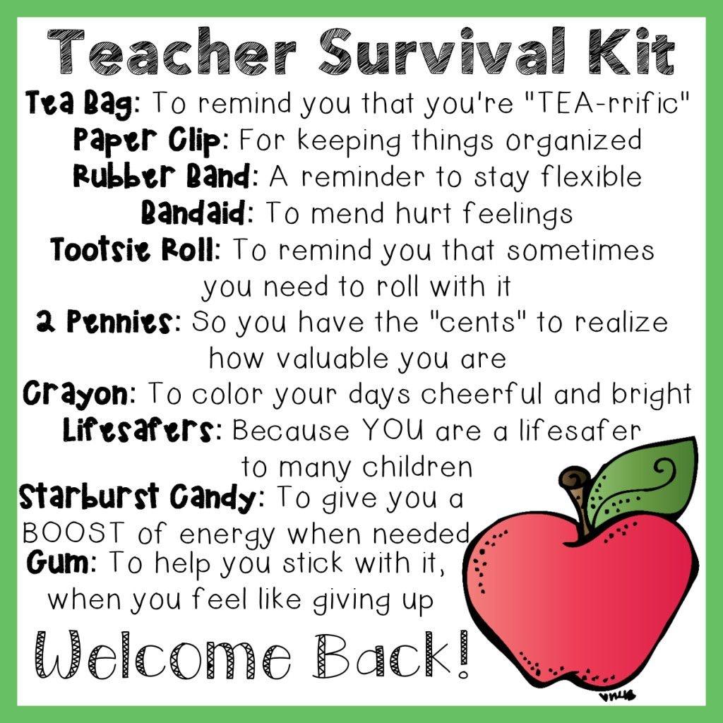 Teacher Survival Kit | Educational Activities | Survival Kit For - Teacher Survival Kit Free Printable