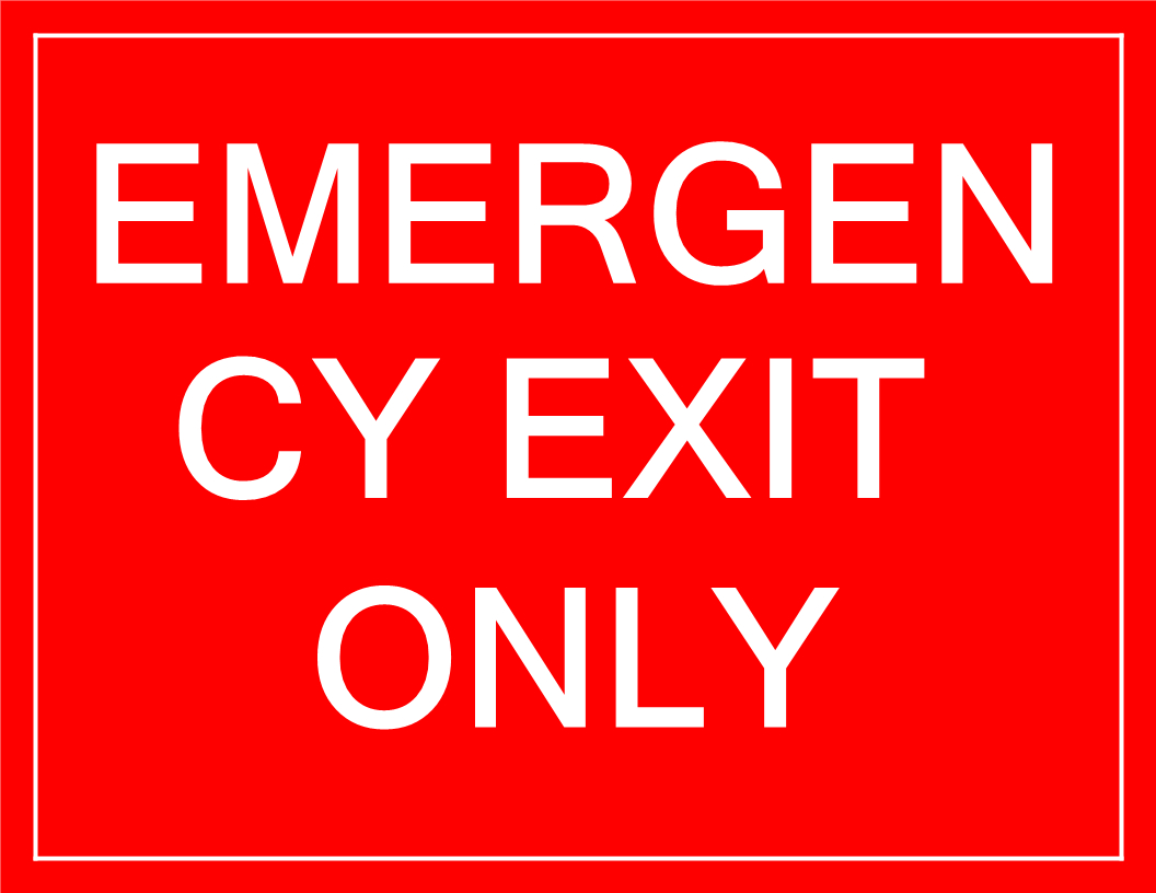 Temporary Emergency Exit Sign - Download This Free Printable - Free Printable Emergency Exit Only Signs