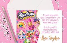 Thank You Cards Shopkins Thank You Cards Shopkins Thank You | Etsy – Free Printable Shopkins Thank You Cards