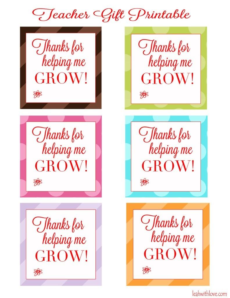 "Thank You For Helping Me Grow"" Free Printable Tags - Leah With Love - Free Printable Lifesaver Tags"
