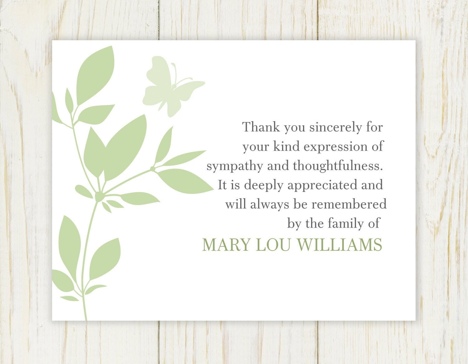 Thank You Funeral Cards - Kaza.psstech.co - Thank You Sympathy Cards Free Printable