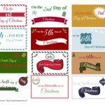 The 12 Days Of Christmas Ideas + Printable Gift Tags   Boyfriends - Free Printable 12 Days Of Christmas Gift Tags