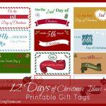The 12 Days Of Christmas Ideas + Printable Gift Tags   Marriage - Free Printable 12 Days Of Christmas Gift Tags
