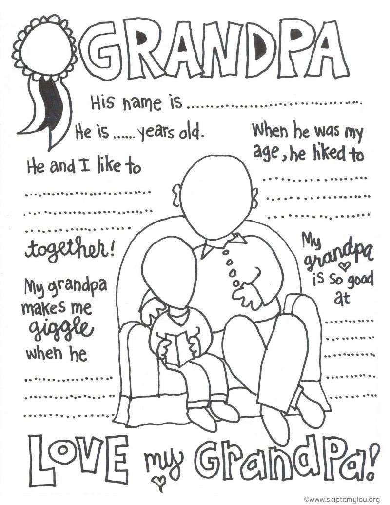 The Cutest Grandparents Day Coloring Pages   Father's Day - Free Printable Happy Fathers Day Grandpa Cards