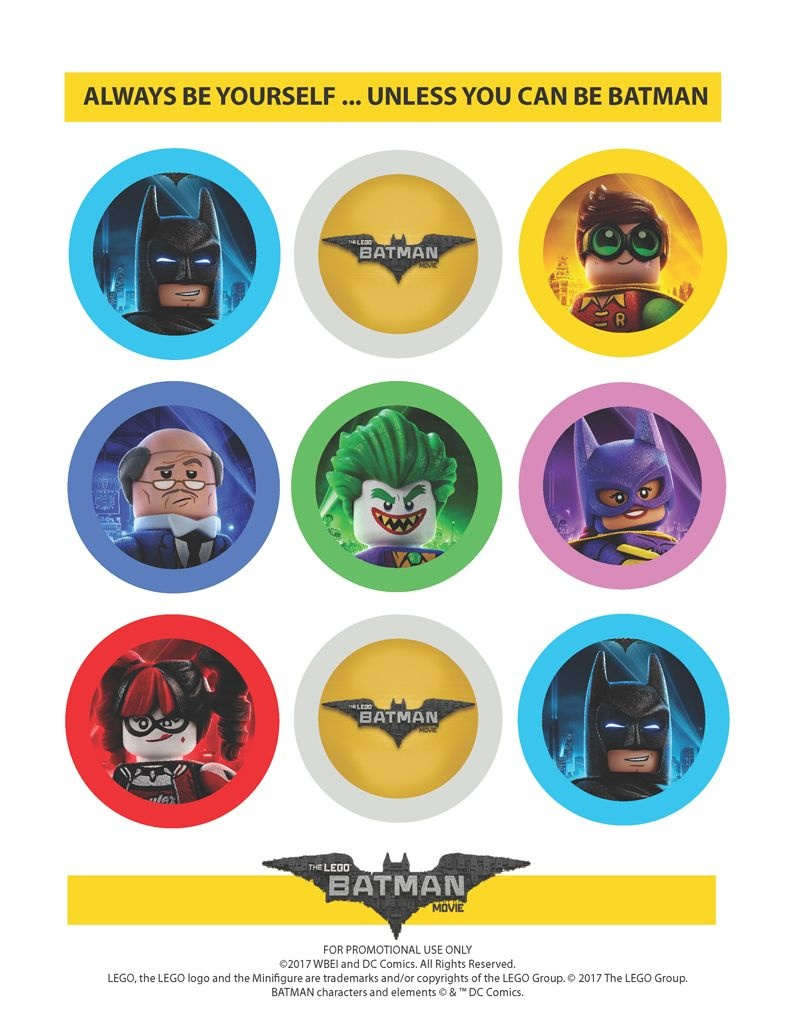 The Lego Batman Movie: Party Straw Toppers | Party Themes & Crafts - Batman Cupcake Toppers Free Printable