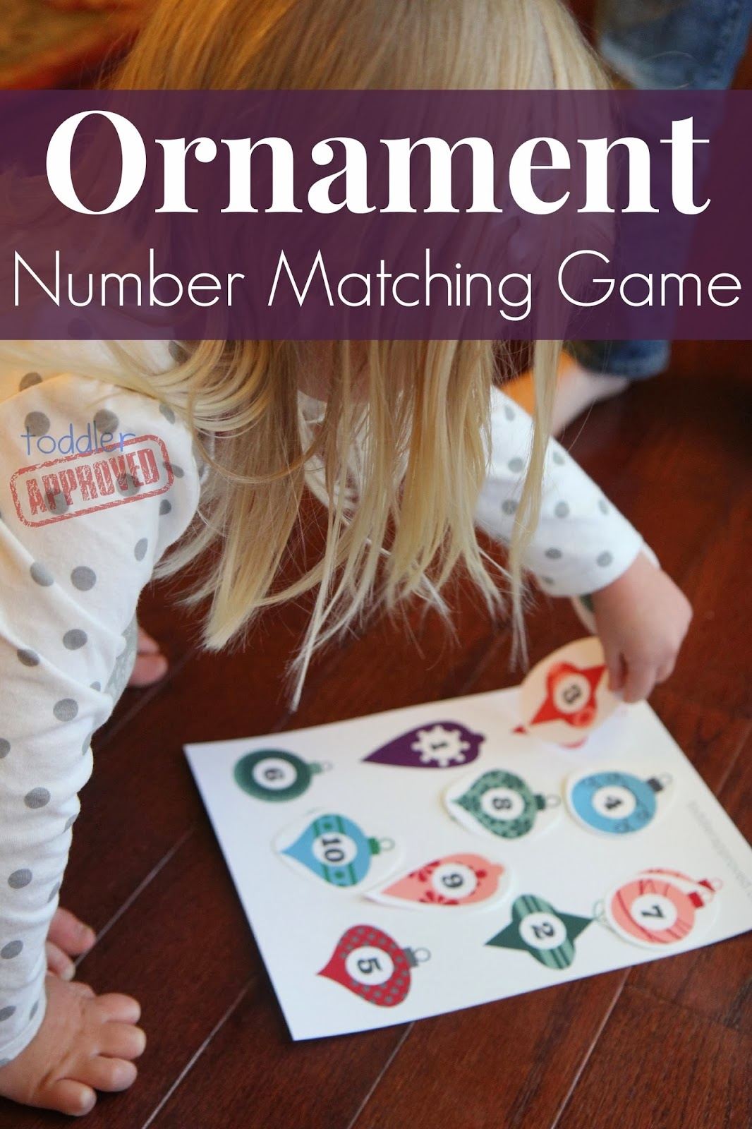 Toddler Approved!: Ornament Number Matching Game {+ Free Printable} - Free Printable Toddler Matching Games