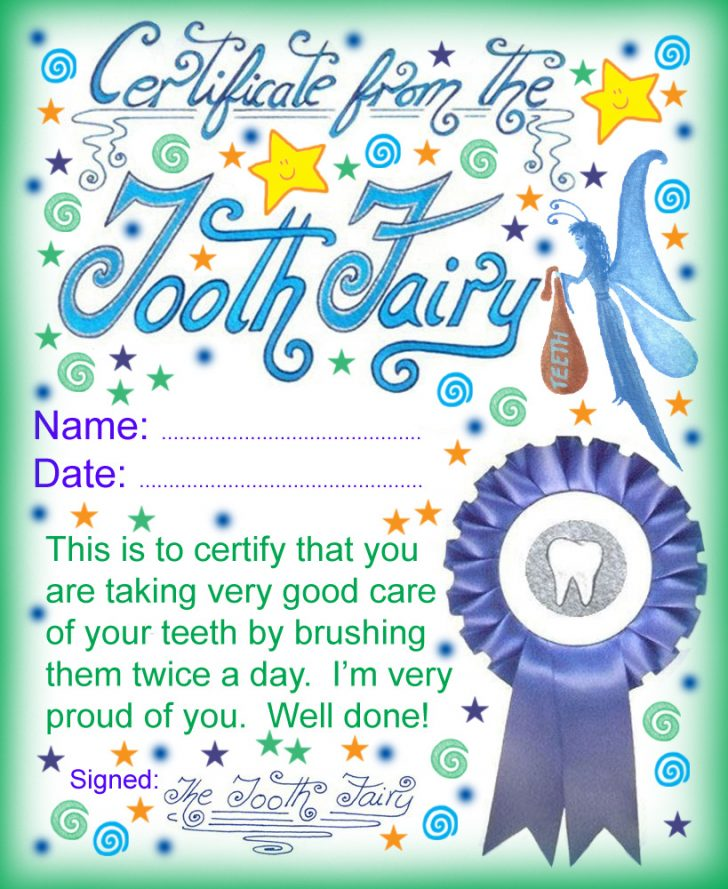 Free Printable Tooth Fairy Pictures