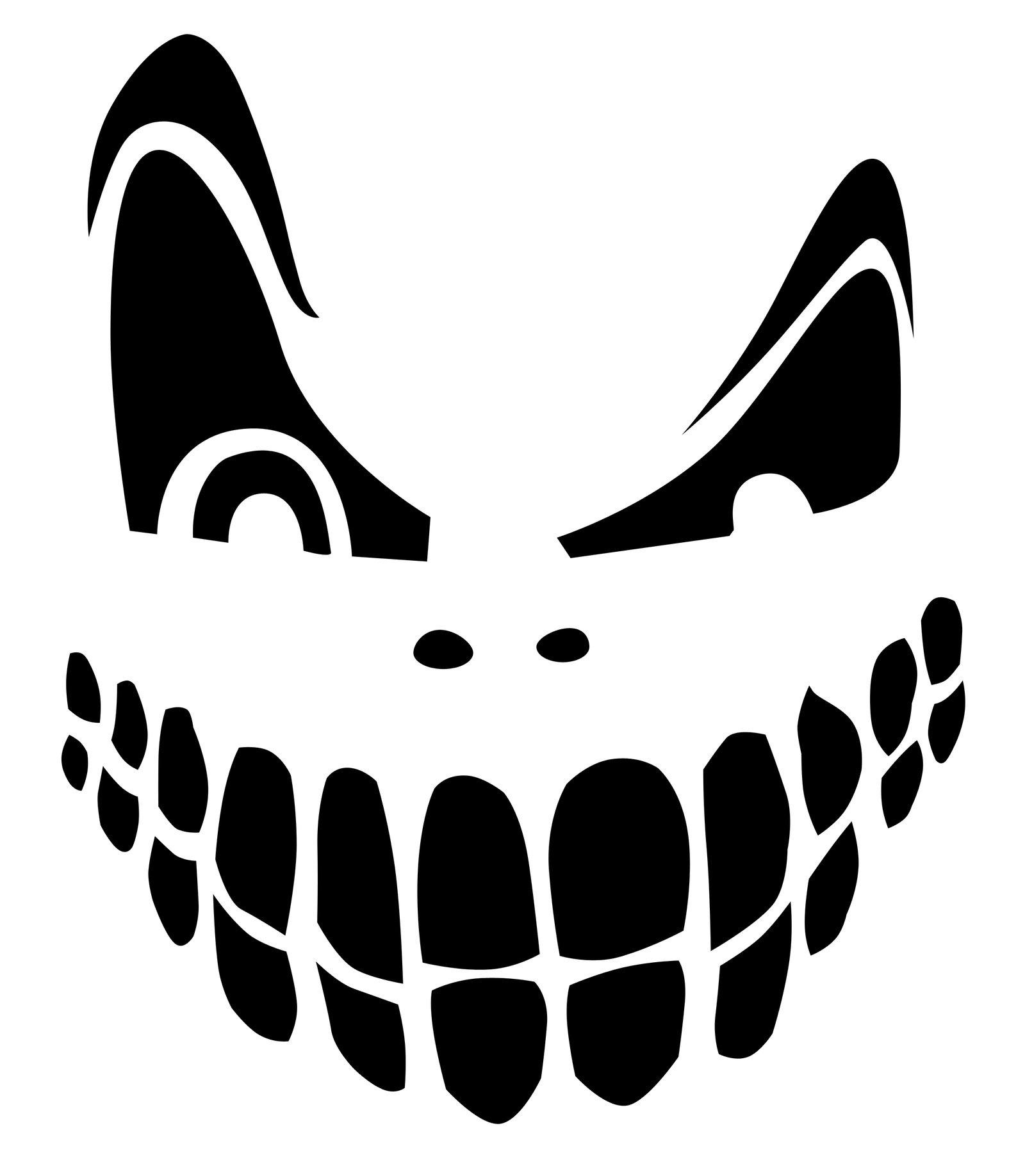 Top 100+ Jack O Lantern Faces Patterns Stencils Ideas   Halloween - Pumpkin Templates Free Printable