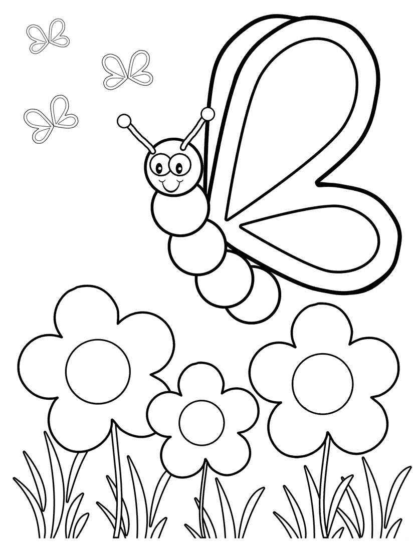 Top 50 Free Printable Butterfly Coloring Pages Online   Coloring - Spring Coloring Sheets Free Printable