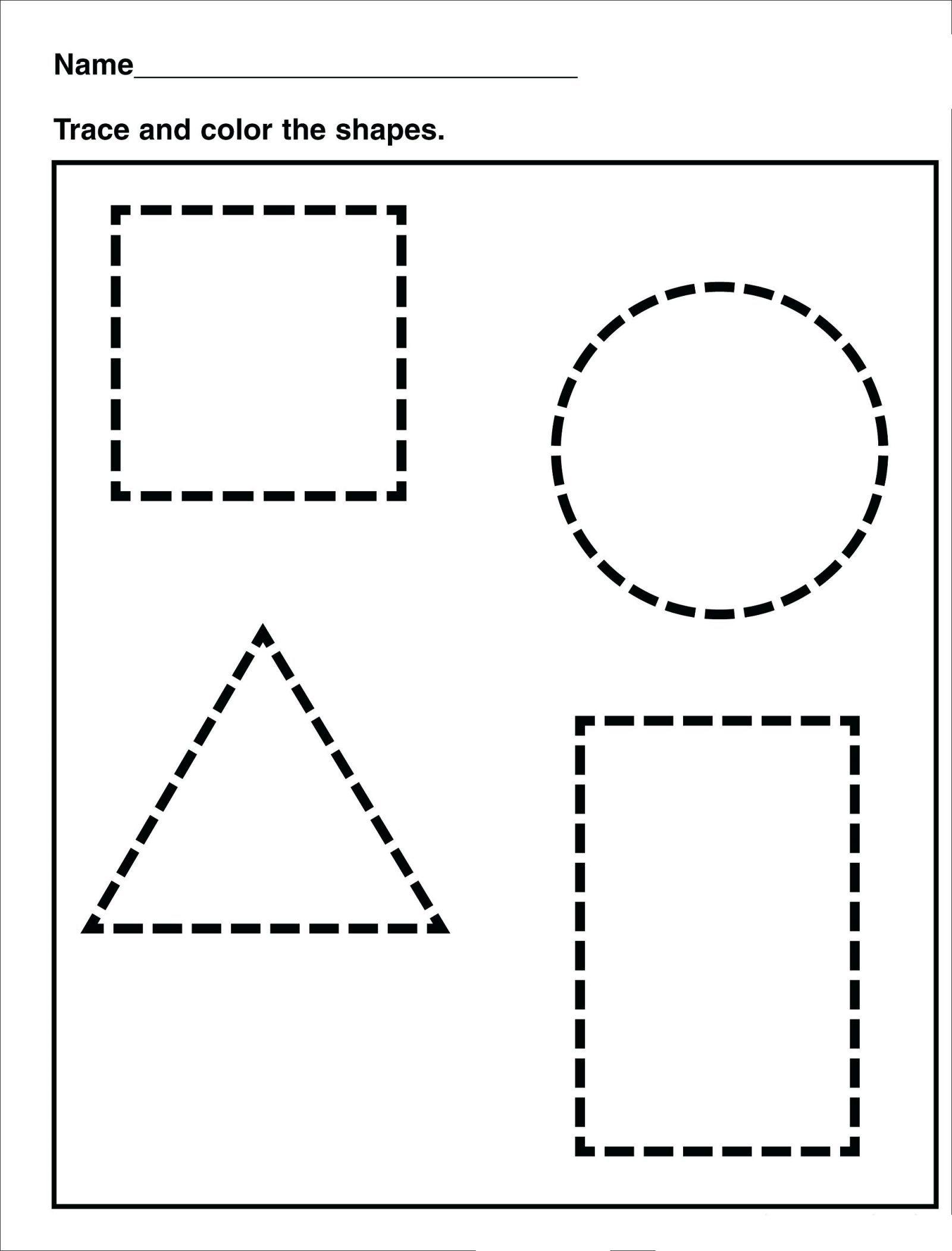 Tracing   Shape Tracing   Preschool / Free Printable Worksheets - Free Printable Shapes Worksheets