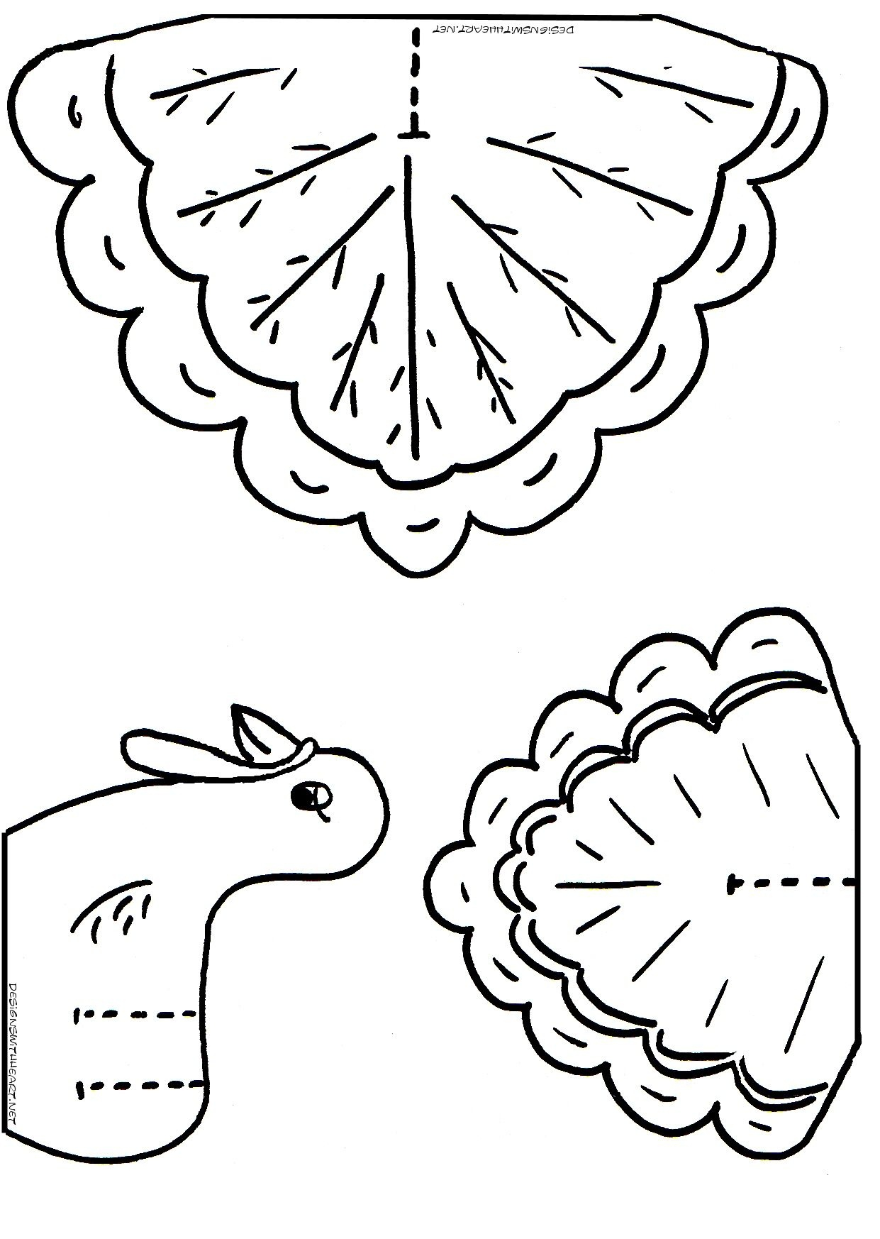Turkey Coloring Cutouts For Kids   Thanksgiving Turkey Crafts - Free Printable Thanksgiving Crafts For Kids