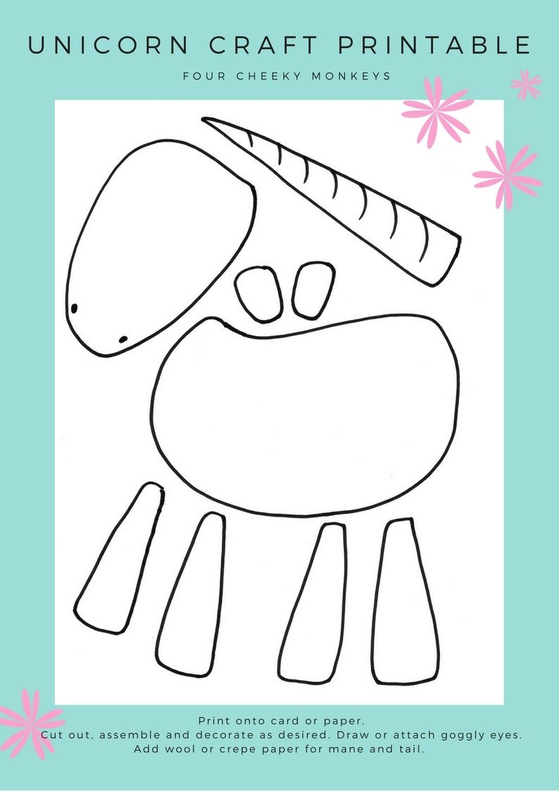 Unicorn Craft Activity: Flower Crown And Free Printables   Crafts - Free Printable Craft Activities