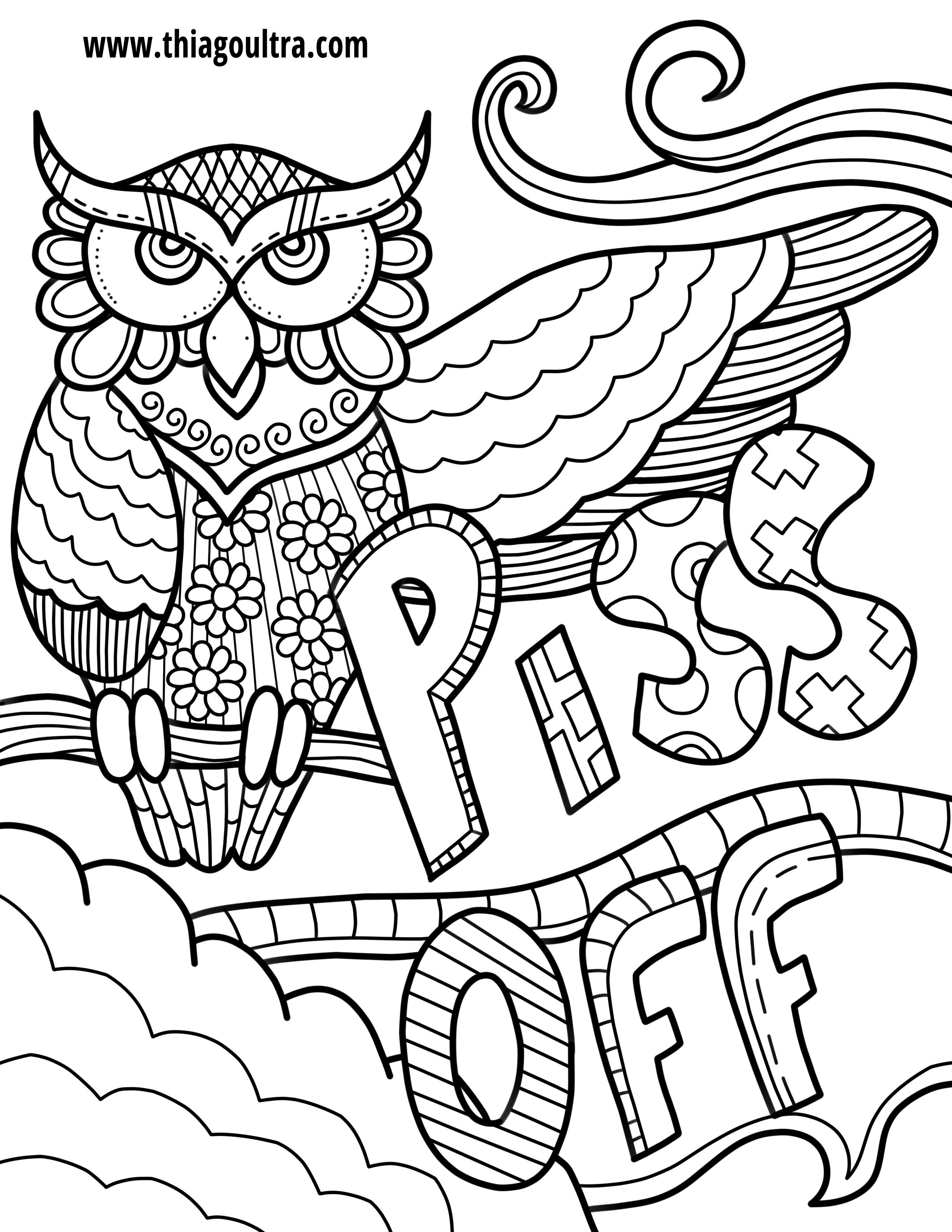 Unique Free Printable Coloring Pages For Adults Only Swear Words - Free Printable Coloring Pages For Adults Swear Words